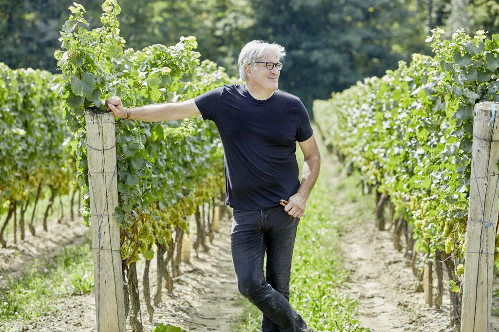 Thomas Bachelder stands in the renowned Le Clos Jordanne vineyard site